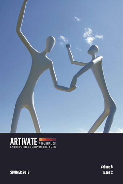Artivate cover image, Dancers by Jonathan Borofsky.